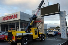 Cleveland Nissan - Integrated LED Sign - install