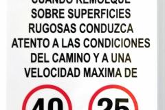 warning sign speed sticker