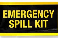 Emergency Spill Kit sticker