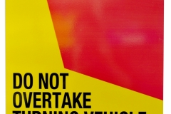 Do Not Overtake sticker