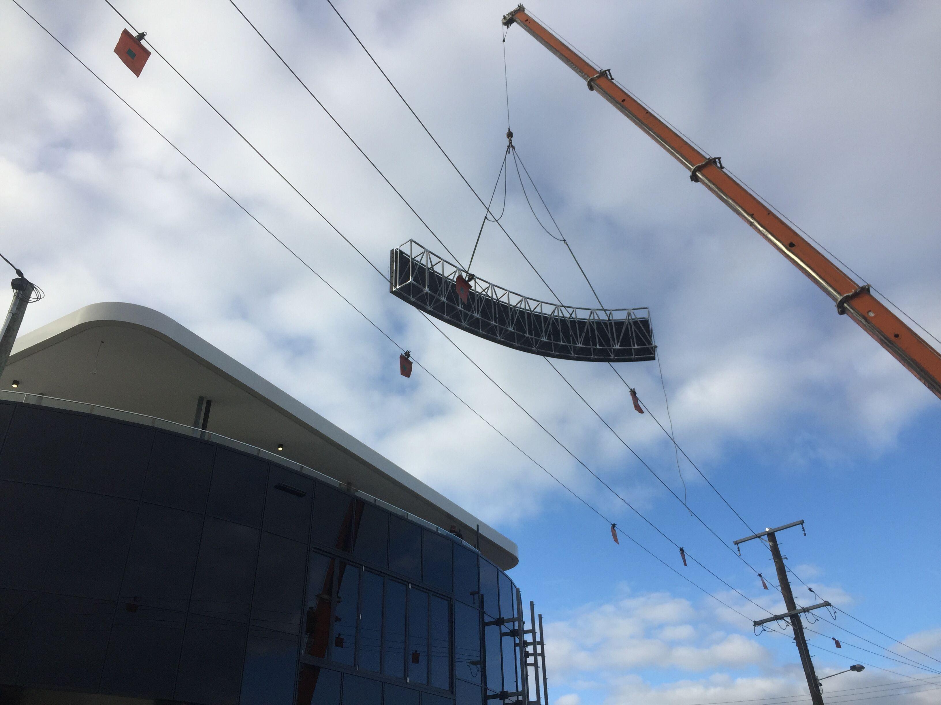 Spine Centre Gold Coast curved LED billboard