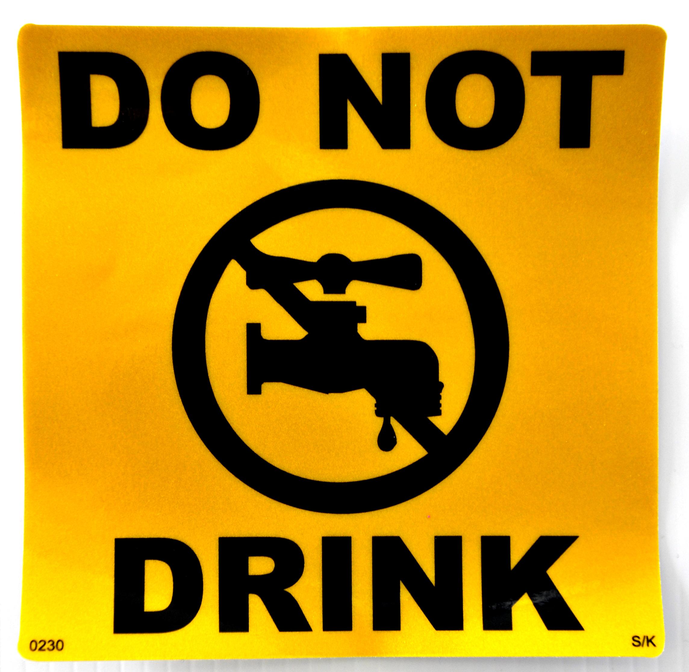 sticker do not drink