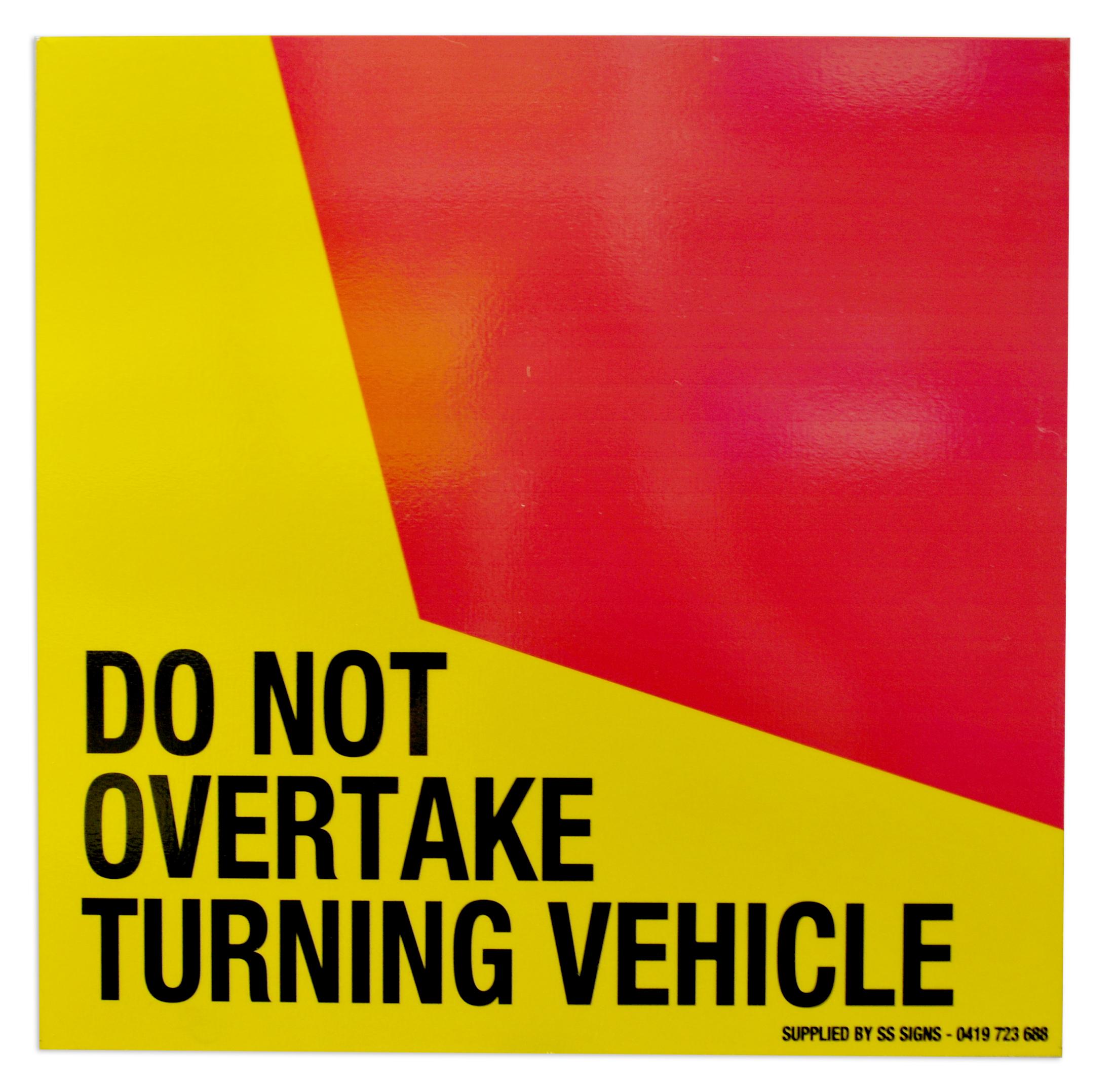 Do Not Overtake sticker